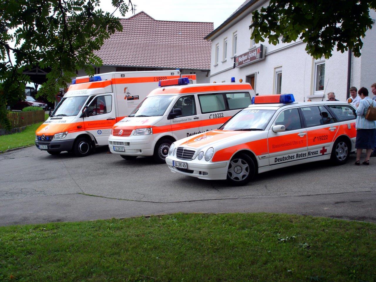 Fahrzeuge des Rettungsdienstes