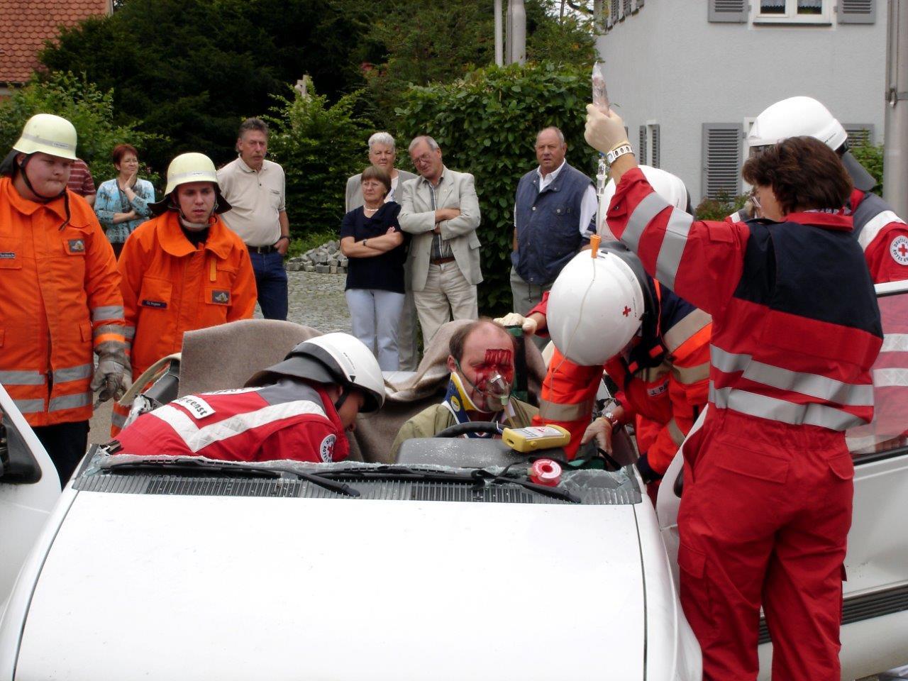 Vorbereitungen zur Bergung des Verletzten