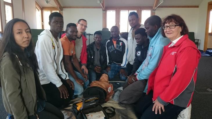 Teilnehmer des Erste-Hilfe-Kurses